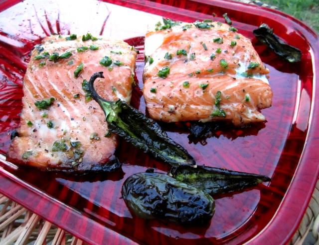 Honey Jalapeno Glazed Grilled Salmon