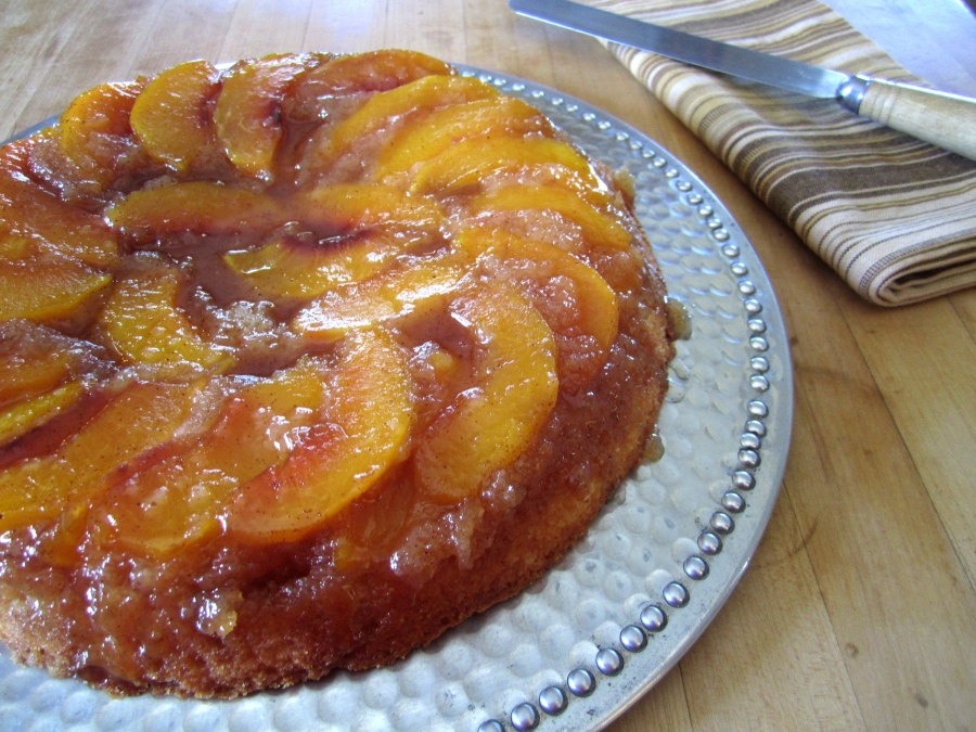 Peach Upside-Down Cake