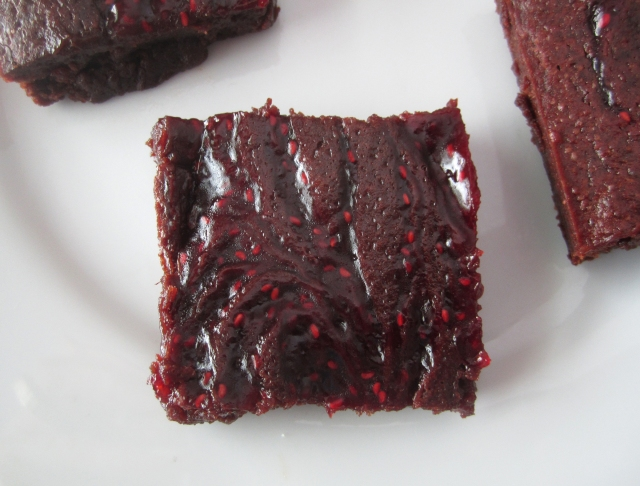 Red Raspberry Beet Brownie