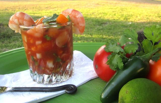 Coctel de Camarones – Mexican Shrimp Cocktail | The Orange Bee