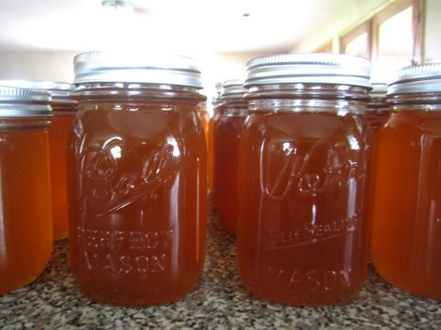 The first jars full of 2013 honey.