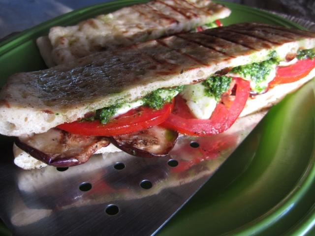 Grilled Tomato Pesto Panini