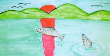 salmon-drawing