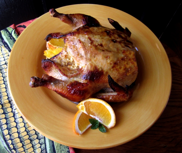 Honey,Ginger & Garlic Roasted Chicken